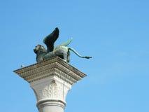 飞过的狮子,威尼斯的标志 库存图片