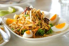 飞过的豆辣沙拉,泰国食物。 免版税库存图片