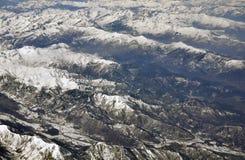 飞过的阿尔卑斯 库存图片