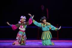 """飞过边的-边-儿童的北京Opera""""Yue teenager† 免版税库存照片"""