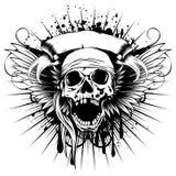 飞过skull_var 3 免版税图库摄影