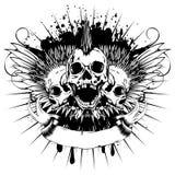飞过skull_var 9 向量例证