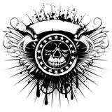 飞过skull_var 4 库存例证