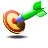飞镖和箭头的例证 免版税库存图片