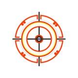 飞镖象在白色背景和标志隔绝的传染媒介标志,飞镖商标概念 向量例证