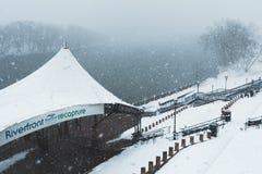 飞雪亦不`复活节行军13 2018年在哈特福德康涅狄格新英格兰 库存图片