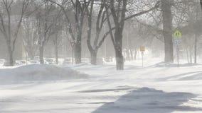 飞雪冬天在镇里 影视素材