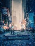 飞雪在纽约2016年1月23日 免版税库存图片