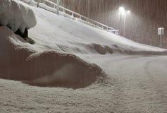 飞雪在阿拉斯加 库存图片