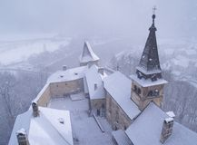飞雪城堡 免版税库存图片