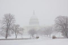 飞雪dc华盛顿 免版税库存图片