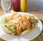 飞鱼三明治加勒比样式巴布达 库存图片