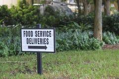 食品供应交付标志 库存照片