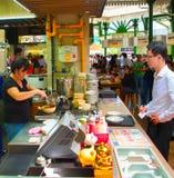 食品店在新加坡 免版税库存照片
