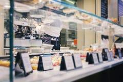 食品店浓咖啡酒吧 免版税图库摄影