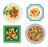 食品成分传染媒介平的例证 免版税库存照片