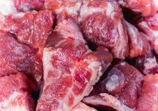 食品成分新鲜的猪肉骨头 免版税库存照片