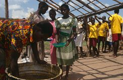食品配给,乌干达 免版税库存图片
