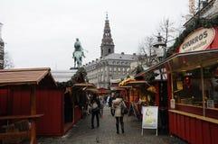 食品项目在圣诞节市场上 免版税库存图片