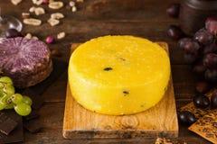 食家乳酪的食品组成 免版税库存图片