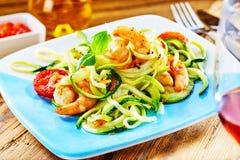 食家低碳水化合物海鲜开胃菜 库存照片