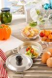 食家家庭的产品 免版税库存照片