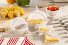 食家家庭的产品 库存图片