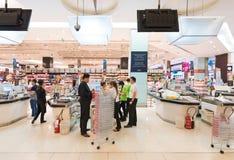 食家市场,泰国模范购物中心,曼谷 免版税库存照片