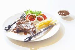 食家开胃烤牛肉牛排 库存图片