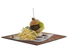 食家汉堡 免版税库存图片