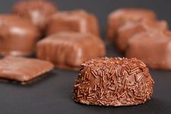 食家花梢巧克力 免版税库存照片