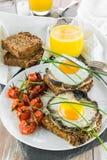 食家素食早午餐 库存图片