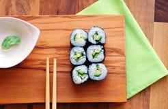 素食寿司卷 免版税库存图片