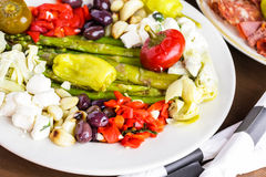 素食开胃小菜 图库摄影