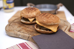 素食扁豆汉堡包 免版税库存照片