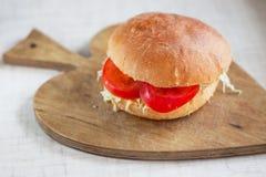 素食汉堡包 免版税库存图片