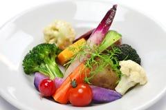 素食沙拉,健康生活方式标志 免版税库存照片