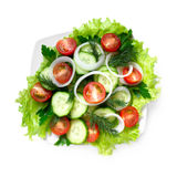 素食沙拉,顶视图 库存照片