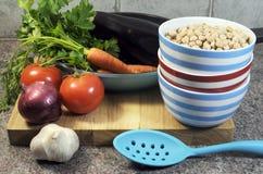 素食烹调概念 图库摄影