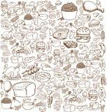 食物乱画 库存例证