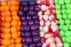食物五颜六色的甜点 免版税库存照片