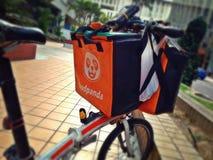 食物交付自行车 免版税库存图片