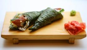 食物传统日本的卷 免版税库存照片