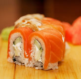 食物传统日本的卷 免版税库存图片