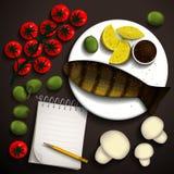 食物例证 图库摄影