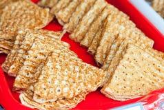 食物俄国传统 开胃油煎的薄煎饼 免版税库存照片
