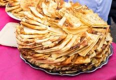 食物俄国传统 开胃油煎的薄煎饼 免版税图库摄影