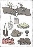 食物元素 库存例证
