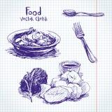 食物剪影 免版税图库摄影