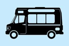 食物卡车图表 免版税库存照片